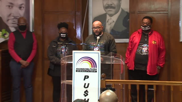 chicago, il, u.s. - one of protest leaders speaking at protest against unfair judicial system in evanston. family members of breonna taylor and jacob... - aunt stock videos & royalty-free footage