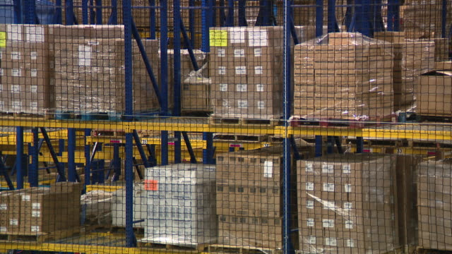chicago, il, u.s. - packages at school cleaning supplies warehouse on wednesday, march 4, 2020. a chicago northwest suburban warehouse sells masks... - warehouse stock videos & royalty-free footage