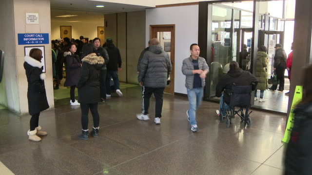 chicago, il, u.s. - people in leighton criminal court where a dozen more men who say they were framed by a disgraced former chicago police sergeant... - sergeant stock videos & royalty-free footage