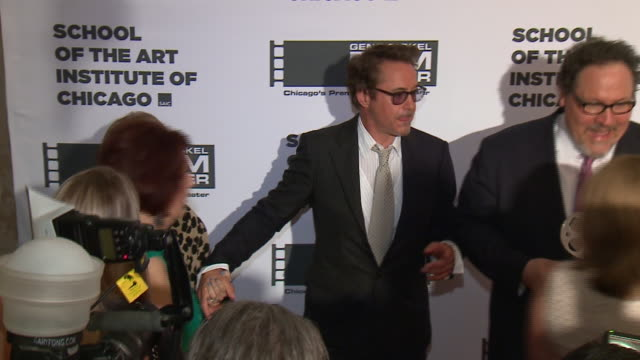 chicago, il. u.s. - robert downey jr. presented jon favreau with the 2019 renaissance award at the annual gsfc gala at the four seasons hotel on... - four seasons hotel stock videos & royalty-free footage