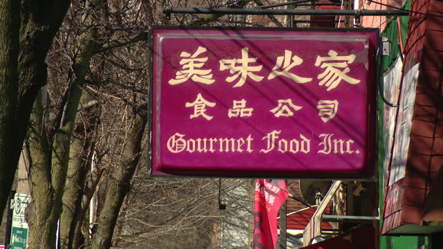 chicago, il, u.s. - signage of closed due to pandemic restaurants and stores in chinatown, chicago. the pandemic has devastated chicago's chinatown,... - recession stock videos & royalty-free footage