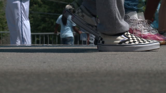 wgn chicago il us the 90th annual bud billiken parade which made its way through bronzeville and ended at washington park on saturday august 10 2019 - human foot stock videos & royalty-free footage