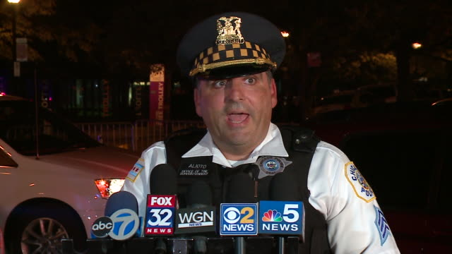 chicago, il, u.s. - witness and police officer speak about the incident after the july fourth fireworks show on thursday, july 4, 2019. - witness stock videos & royalty-free footage