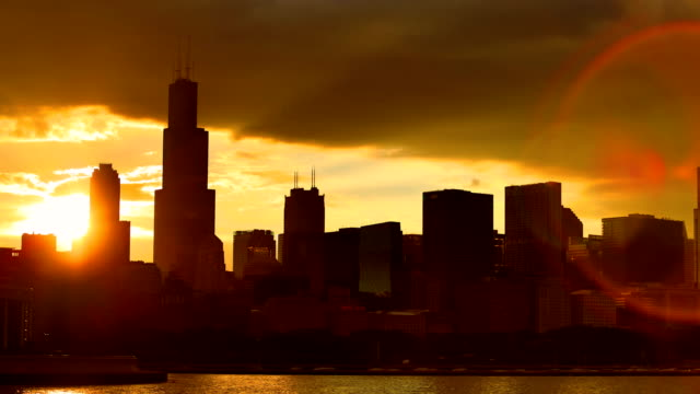 chicago, il - sears tower stock-videos und b-roll-filmmaterial