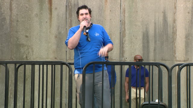 chicago, illinois,u.s. - man giving speech on nurses' protest in chicago. negotiations resumed tuesday on day four of the university of illinois... - orthographic symbol stock videos & royalty-free footage