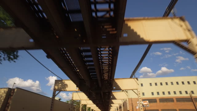 "chicago ""l"" elevated train - chicago 'l' stock videos & royalty-free footage"