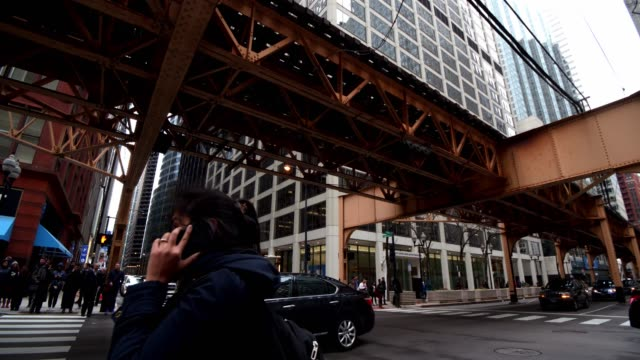 chicago l train - chicago 'l' stock videos & royalty-free footage