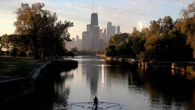 Chicago Lincoln Park Lagoon at Daybreak