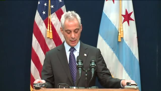 wgn chicago mayor rahm emanuel announced at a news conference on december 1 2015 that he dismissed poice department superintendent garry mccarthy... - 警察署長点の映像素材/bロール