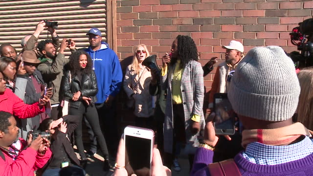 chicago mayoral candidate amara enyia hosted a campaign event at the corner of 63rd street and cottage grove avenue in chicago on october 23, 2018.... - chance the rapper stock videos & royalty-free footage