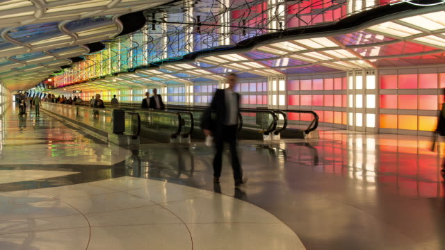 chicago o'hare airport - global communications stock videos & royalty-free footage
