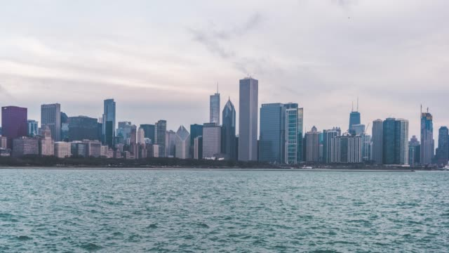 t/l ws ha pan chicago panorama and skyline / illinois, us - illinois stock videos & royalty-free footage