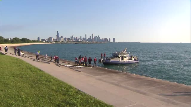wgn chicago police boat on lake michigan on june 19 2013 in chicago illinois - police boat stock videos and b-roll footage