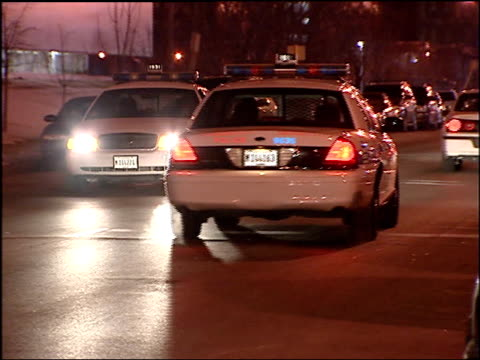 chicago police cars parked and on the street on jan 15 2003 in chicago - illinois stock videos & royalty-free footage