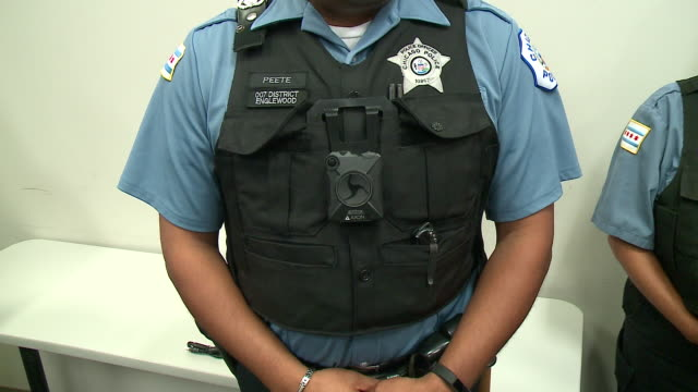 WGN Chicago Police Officers Wearing Body Cameras on Oct 13 2017