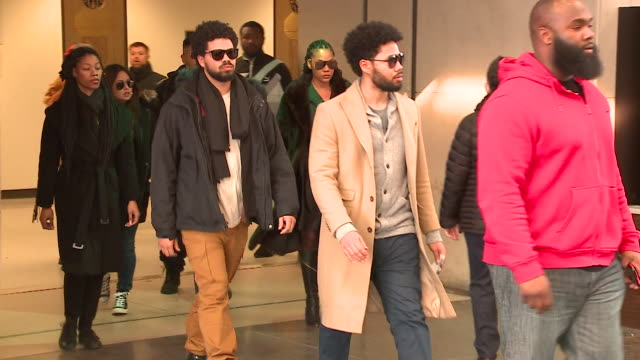 wgn chicago police opened a hate crime investigation after a cast member of the television show empire jussie smollett alleged he was attacked by men... - cast member stock videos and b-roll footage