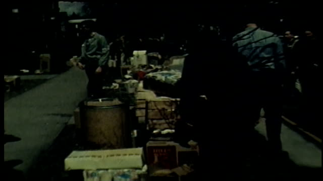 wgn chicago residents gather clothes canned food and other supplies to assist those in the aftermath of the chicago west side riots which were... - 1968 stock videos & royalty-free footage