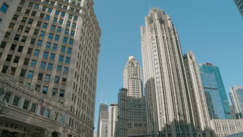 chicago river - dusable bridge - michigan avenue bridge - ミシガン橋点の映像素材/bロール