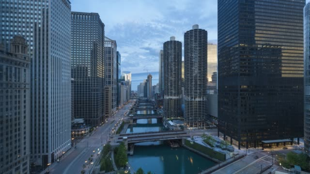 chicago river sunrise time lapse - 1963 stock videos & royalty-free footage