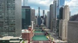 Chicago Riverwalk - Drone Shot