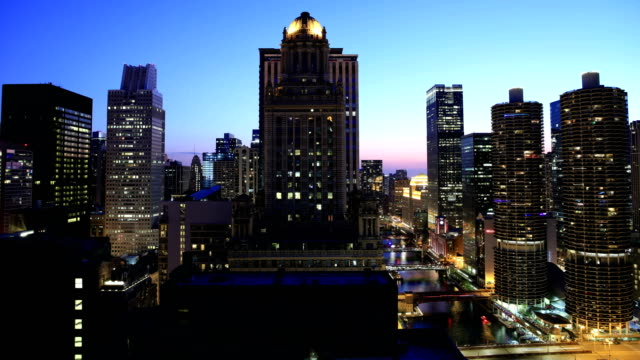 chicago skyline 4k - chicago loop stock videos and b-roll footage