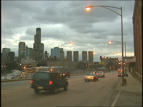 chicago skyline and traffic - 1996 stock videos & royalty-free footage