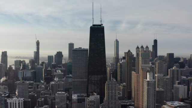chicago skyline in winter - great lakes stock videos & royalty-free footage