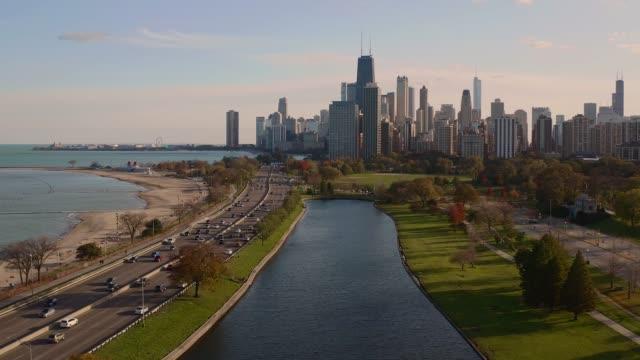 シカゴ・スカイライン - シカゴ市点の映像素材/bロール
