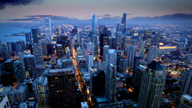 chicago skyline, - chicago loop stock videos and b-roll footage