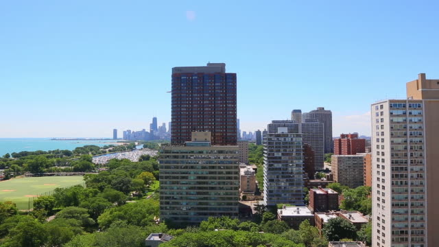 chicago skyline - lakeshore stock videos and b-roll footage