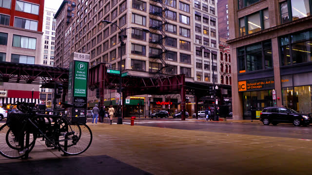 chicago street. subway. - chicago 'l' stock videos & royalty-free footage