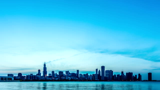 stockvideo's en b-roll-footage met chicago timelapse - chicago illinois