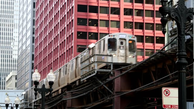 chicago train - chicago 'l' stock videos & royalty-free footage