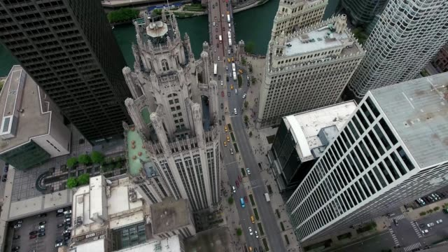 vidéos et rushes de chicago tribune building michigan avenue downtown chicago - chicago illinois