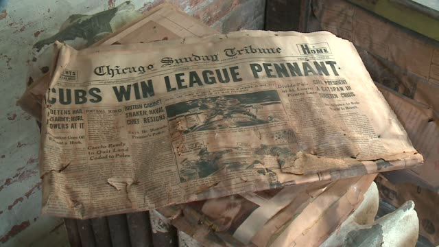 WGN Chicago Tribune issue from October 2 1938 with headline 'Cubs Win League Pennant' in Chicago on October 21 2013