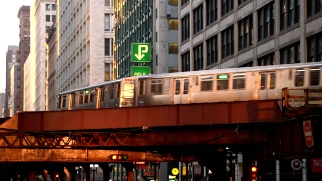 chicago - chicago 'l' stock videos & royalty-free footage