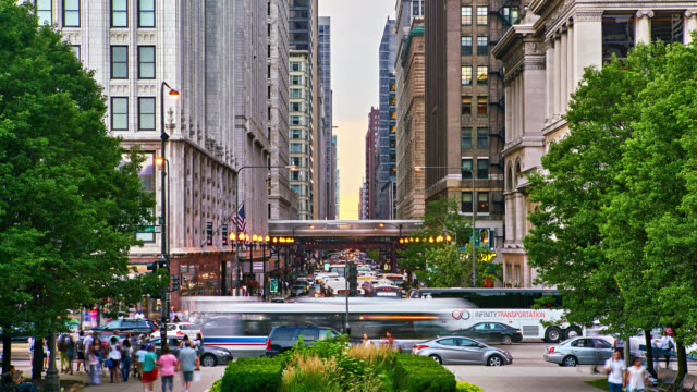 chicago. washington street - chicago 'l' stock videos & royalty-free footage