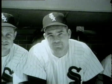 chicago white sox opening day at comiskey park on april 13, 1954. - 1954 stock videos & royalty-free footage