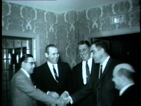 chicago white sox players coaches and members of the media meet at a luncheon in 1959 - 1959 stock videos & royalty-free footage