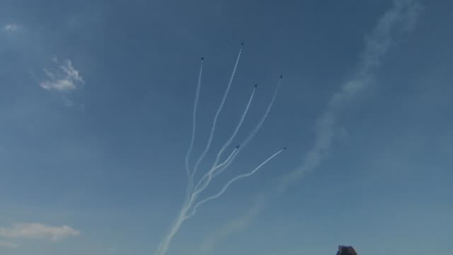 chicago's 54th annual air and water show on august 18, 2012 in chicago, illinois - chicago air and water show stock videos & royalty-free footage