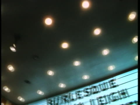 chicago's follies theater advertises burlesque shows. - burlesque stock videos & royalty-free footage