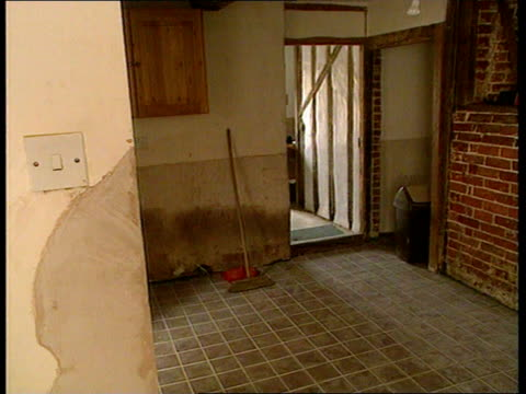 NRA report INT Chichester GV Deserted room as flood damage repair work continues in house PAN RL GV Ditto Sue Martin intvwd SOT After 5 months the...