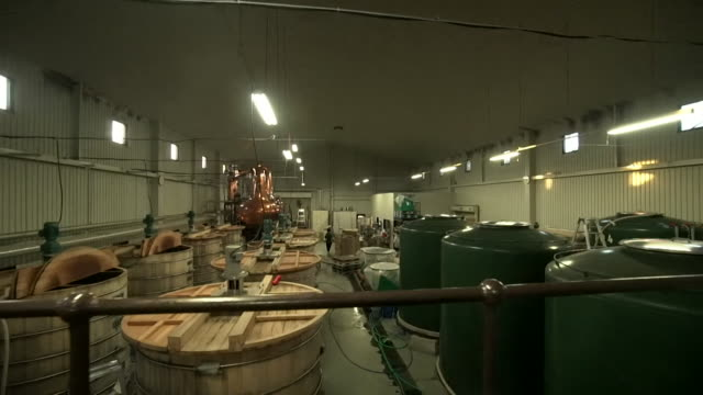 chichibu whisky distillery in japan - asia stock videos & royalty-free footage