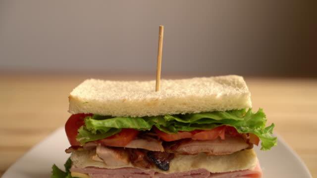 chiciken and ham sandwich