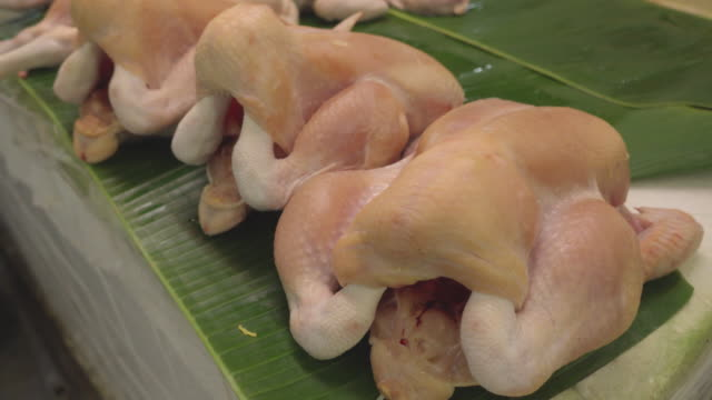 chicken carcasses - asian market stock videos and b-roll footage