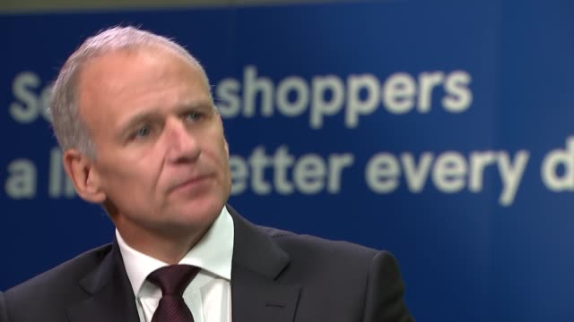 Tesco chief executive Dave Lewis interview ENGLAND London INT Dave Lewis interview SOT re Tesco profits the investigation into 2 Sisters chicken...