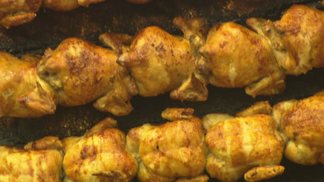 chicken in grill