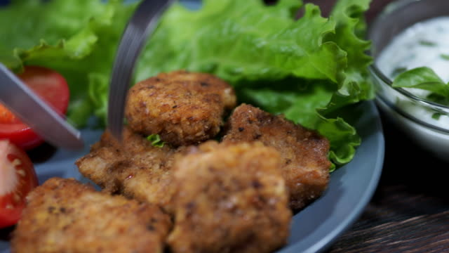 chicken nuggets - breaded stock videos and b-roll footage