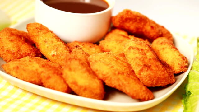chicken nuggets - medium group of objects stock videos & royalty-free footage