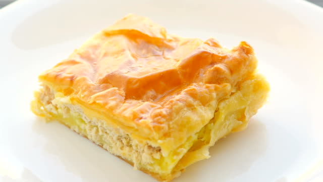 chicken pie, close-up - spinning point of view stock videos & royalty-free footage